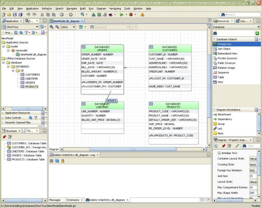 The Cobb Blog: Database Modeling in JDeveloper: A Quick Tour
