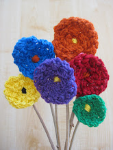 Fingerknitted Flowers