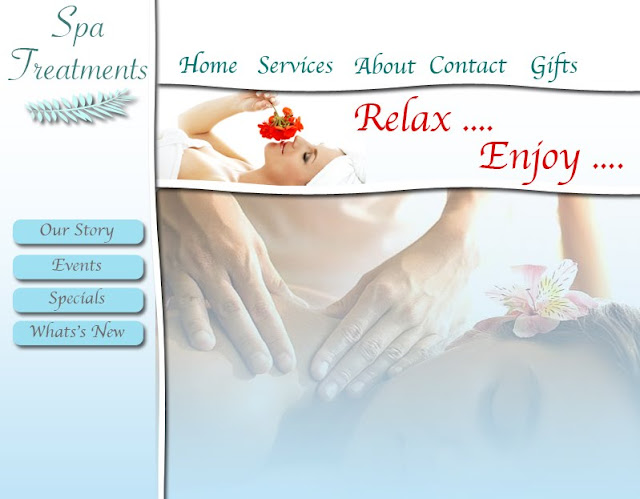 Modern Shabby Chic Spa Website Design