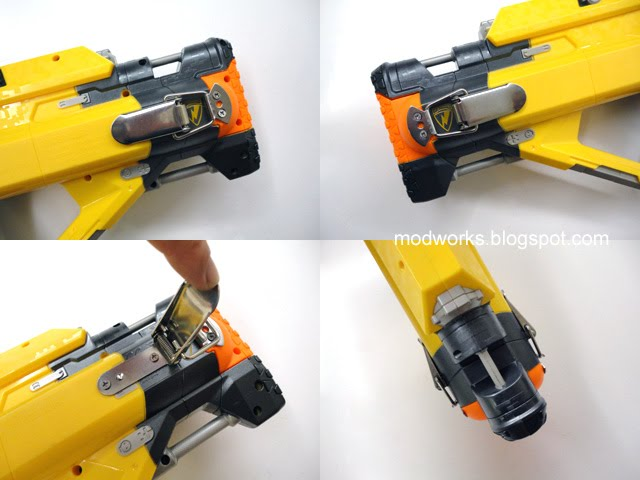 Mod Works Nerf Stampede Battery Sled Quot Quick Release