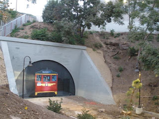 After Curbed La Recently Mentioned The New Red Car Mural In Old Pacific Electric Tunnel Behind Opened Belmont Station Apartments House