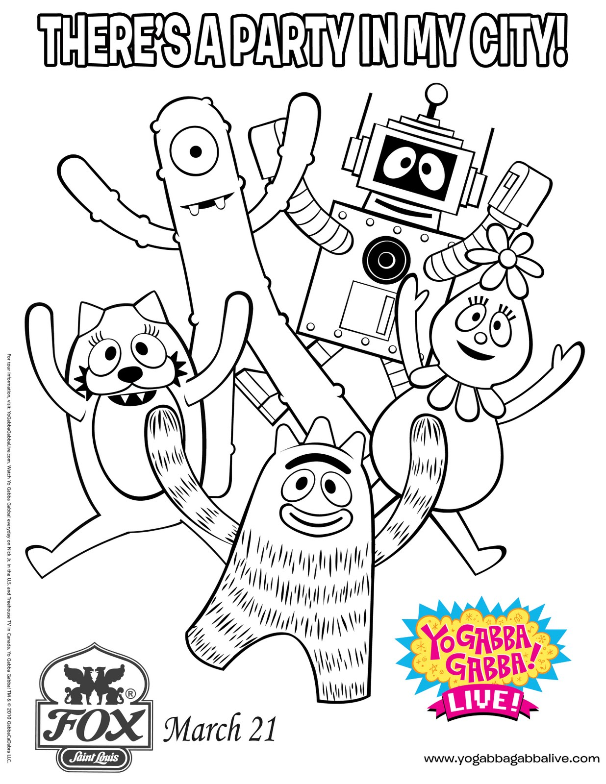 Printable Coloring Pages Yo Gaba Gaba Coloring Pages