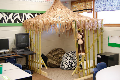 Jungle Classroom Tiki Hut Reading Area