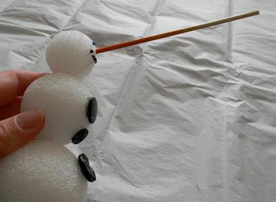 Paint Stick Snowman Craft