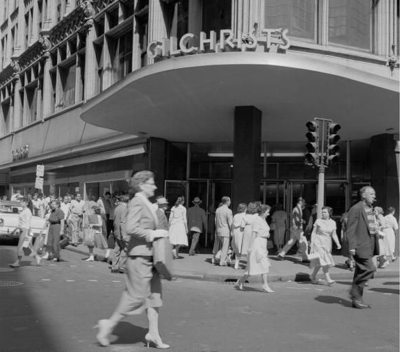 A Busy Day Shopping in Boston 1955.