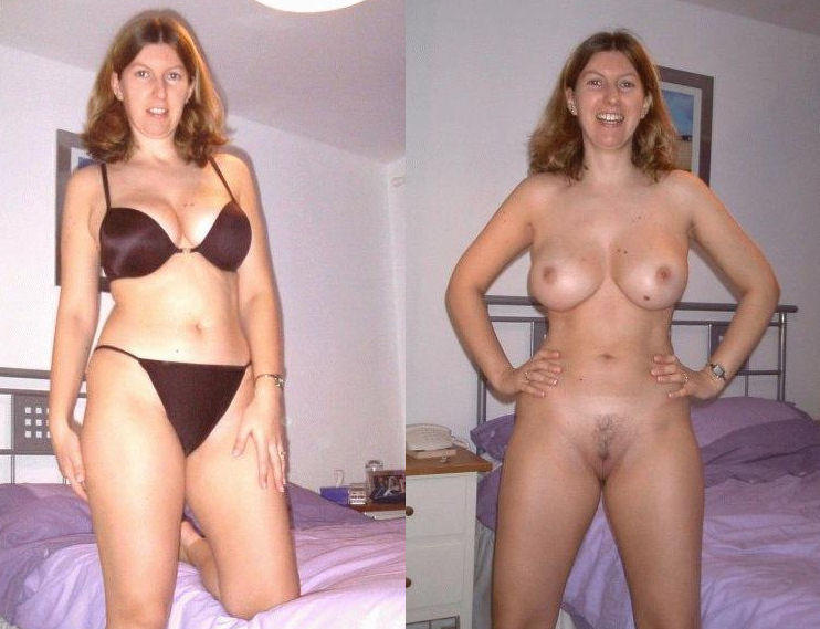 Nude wife dressed and undressed