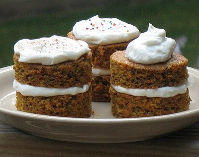 Carrot Cake Towers Diabetic Friendly