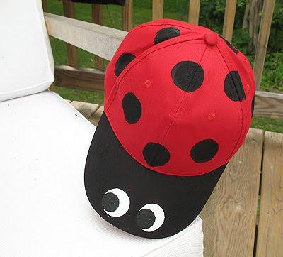 ladybug baseball hat crafts by amanda