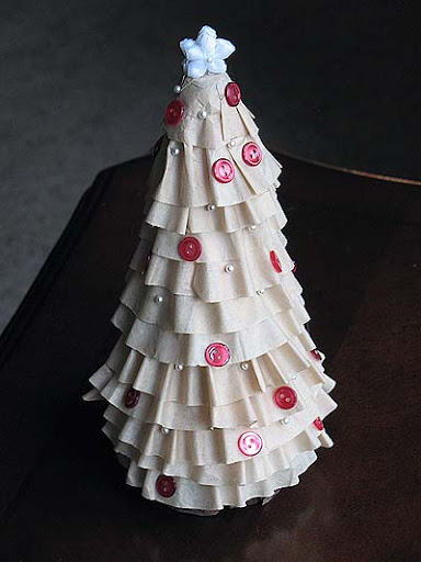 Coffee Christmas Tree.Coffee Filter Christmas Tree Crafts By Amanda