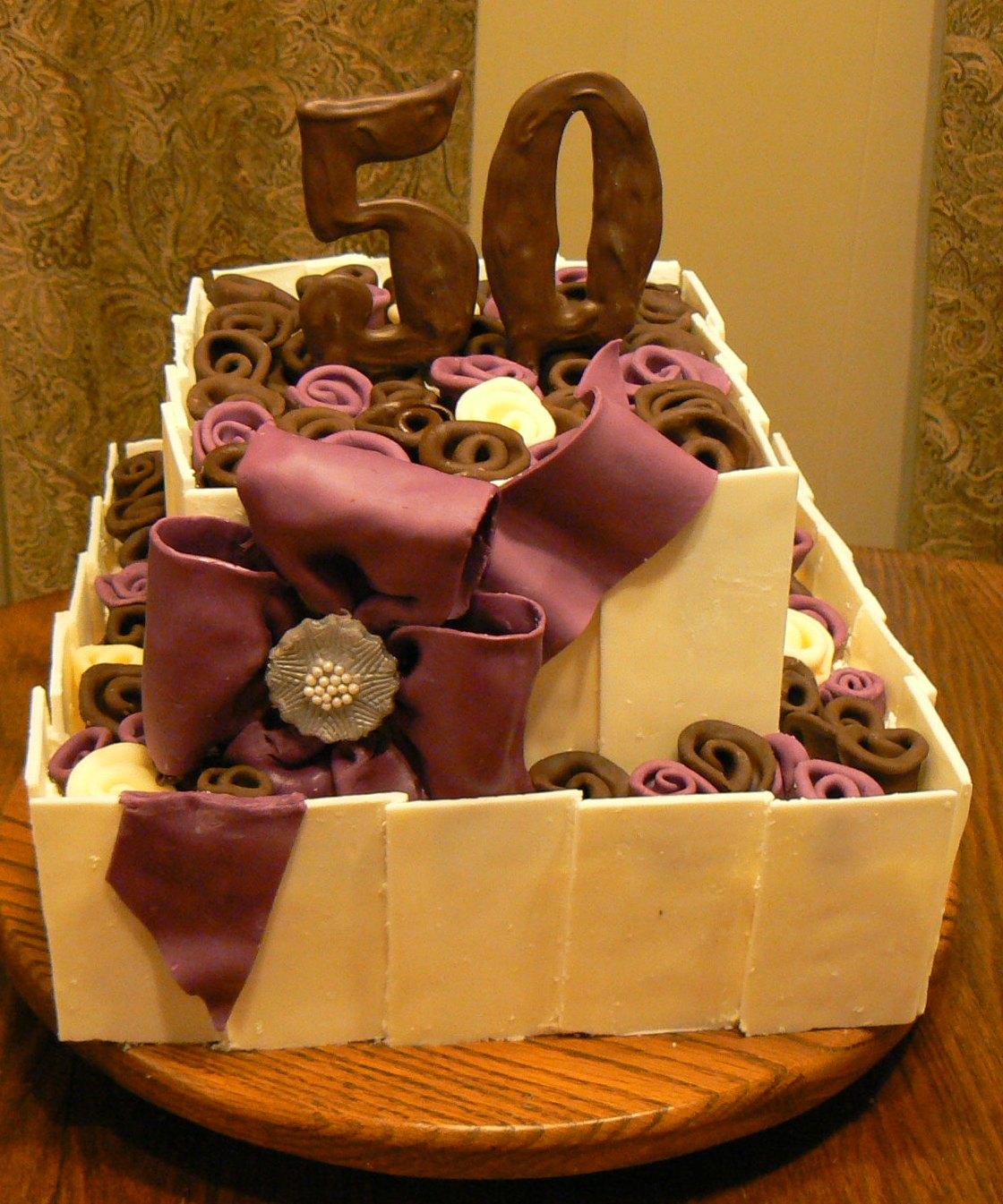 Kelly Roberts Designs 50th Birthday Cake