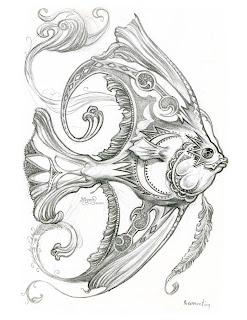 Art of Jeff Haynie: New fish drawings