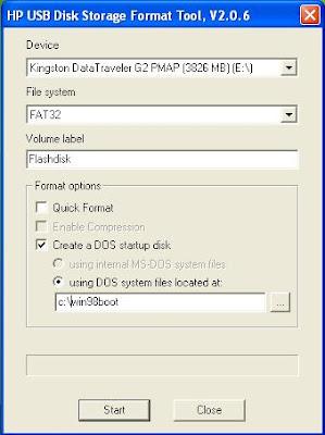 Reformat your hard drive using windows 98 -.