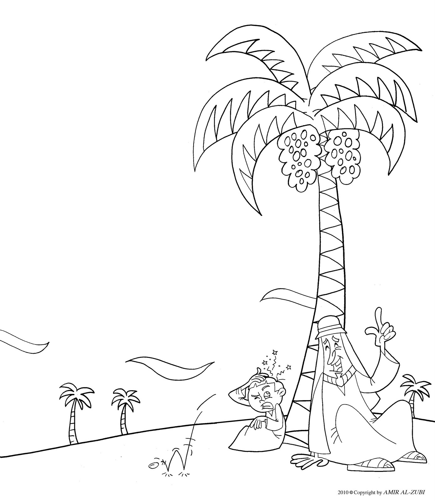 New Muslim Kids Arab Folk Tale Coloring Page