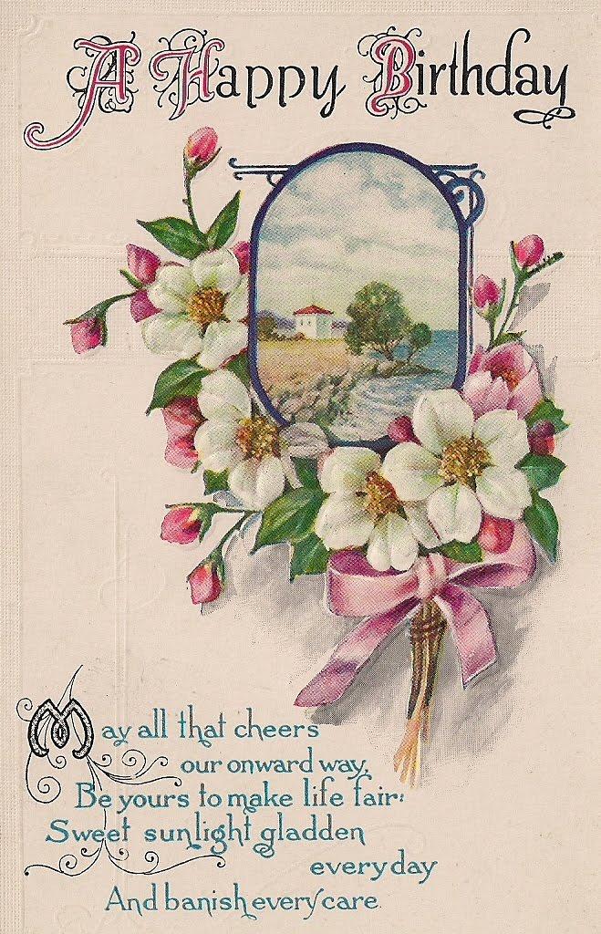 Friendship Vintage Birthday Postcard