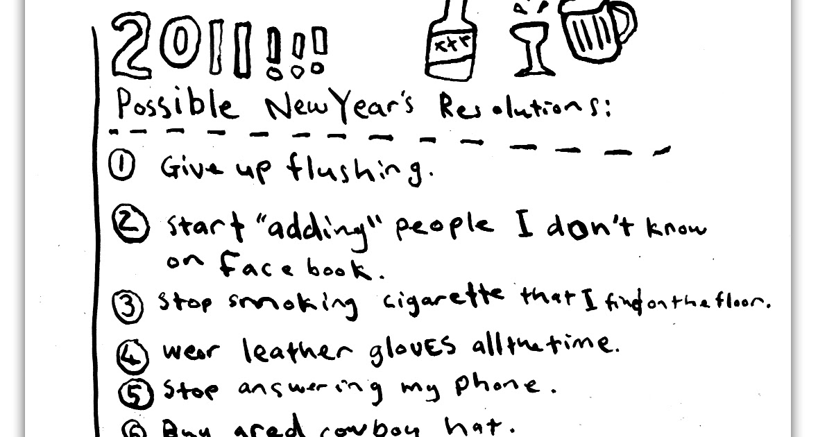 Possible New Year's Resolutions