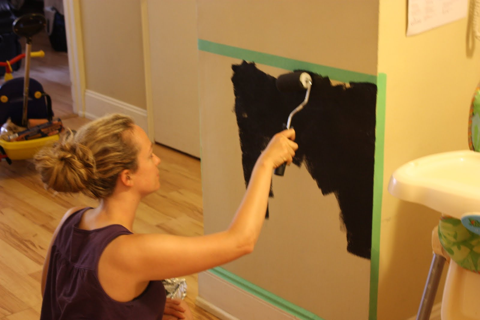How To Turn A Wall Into A Whiteboard Uncommon Sense How To Make A Magnetic Chalkboard Wall Pt 1