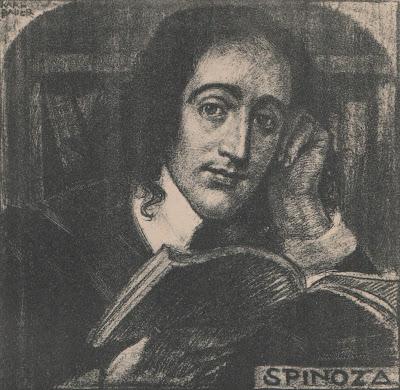Spinozalithografie van Karl Bauer (1909)
