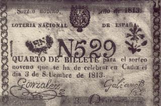 billete loteria antiguo