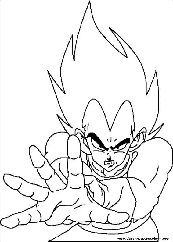Dragon Ball Z Desenho Para Colorir