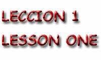 leccion de ingles 1