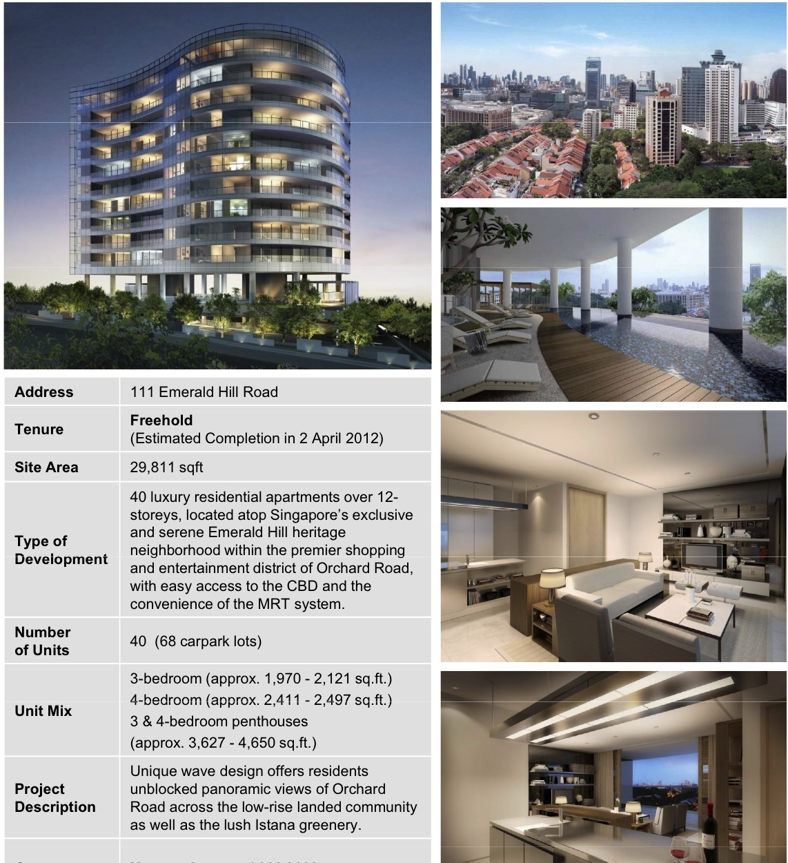 Emerald Hills Apartments: Singapore Property Online 新加坡网上房地产: 111 Emerald Hill. Pls