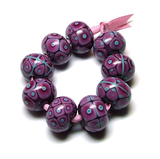 Merry Berry Lampwork Beads