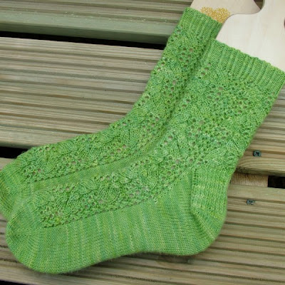 Hand Knitted 'Laurel' Socks
