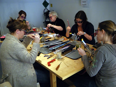 Beadmaking Action @ Fire Works, Bristol