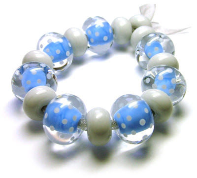 Lampwork Glass Polka Dot Beads