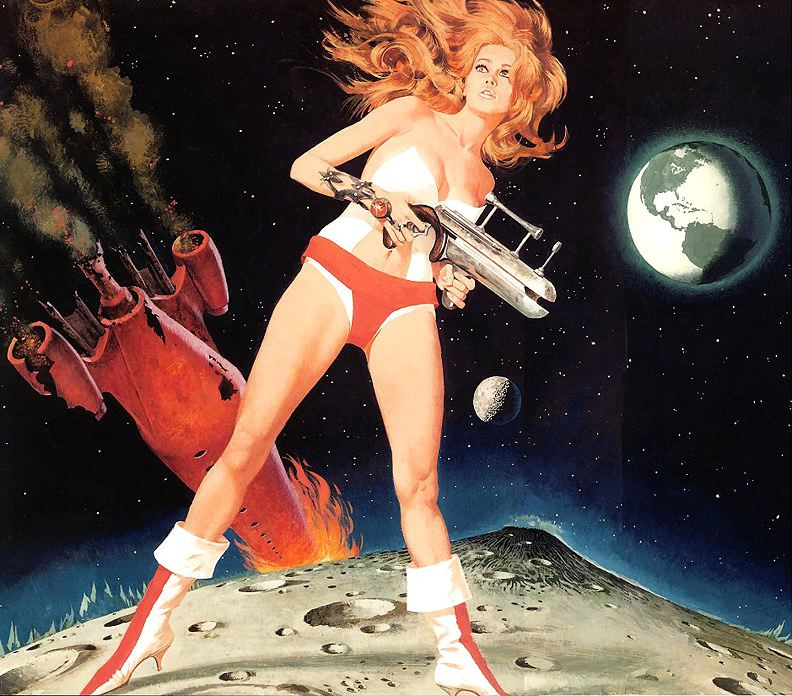 Robert McGinnis. Pin-Up Girls & Pulp Covers. Doctor Ojiplático. Barbarella