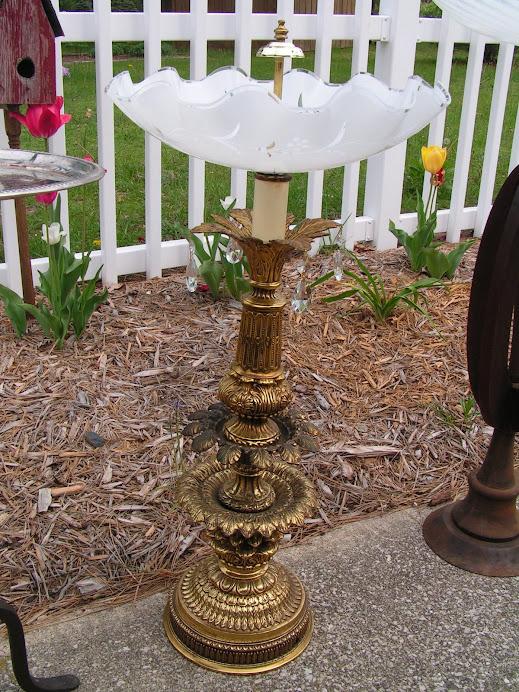 Fancy Lamp Bird Bath