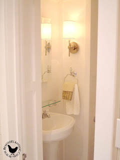 Remodelaholic | Half Bath, Before and After; Retro Remodel