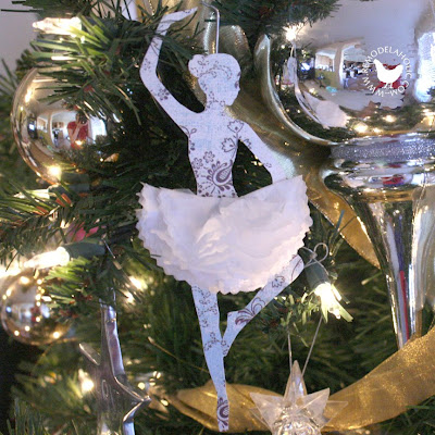 Remodelaholic paper christmas decorations day 11 for Ballerina tree decoration