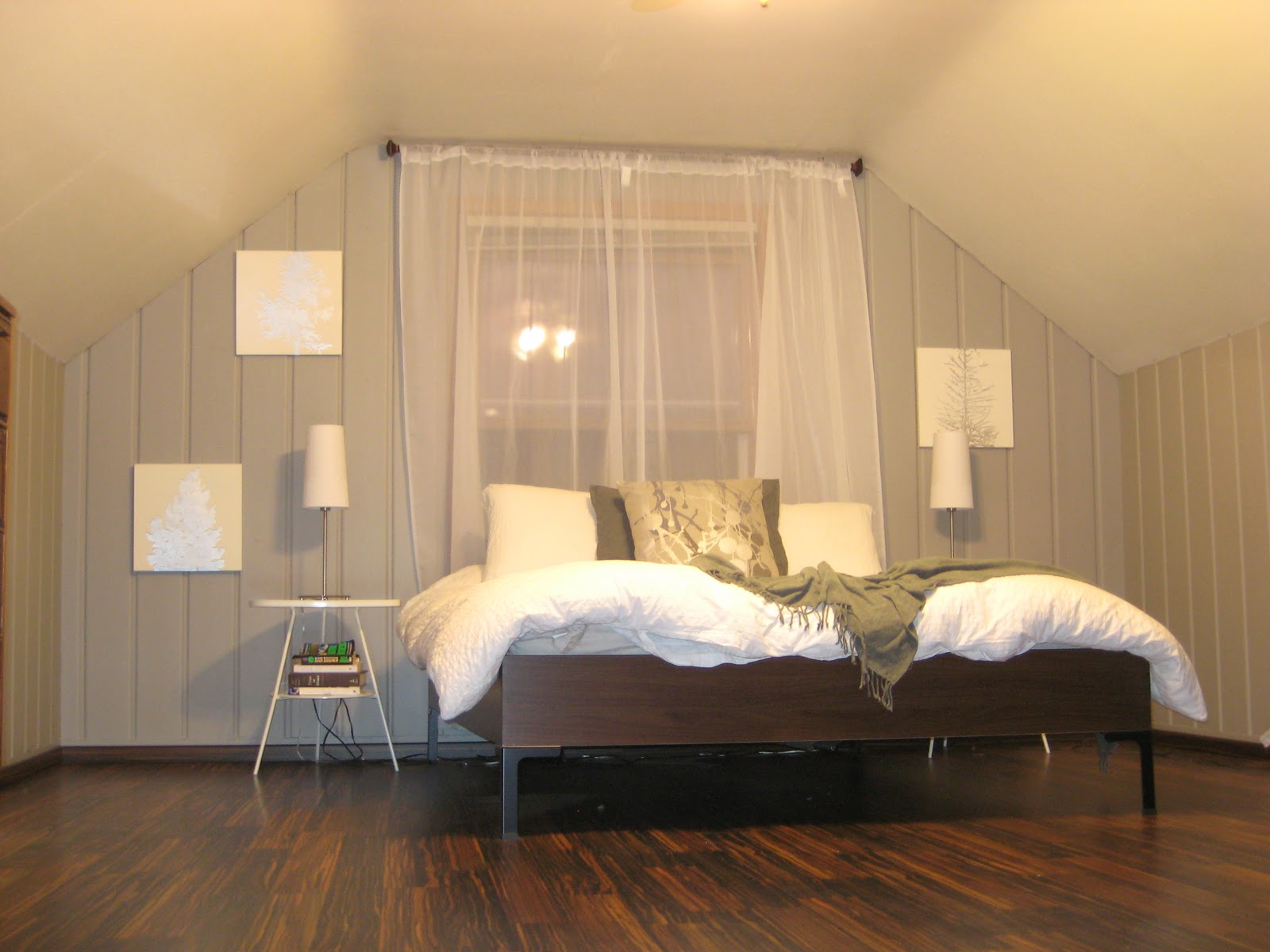 Remodelaholic | Painting Over Knotty Pine Paneling ...
