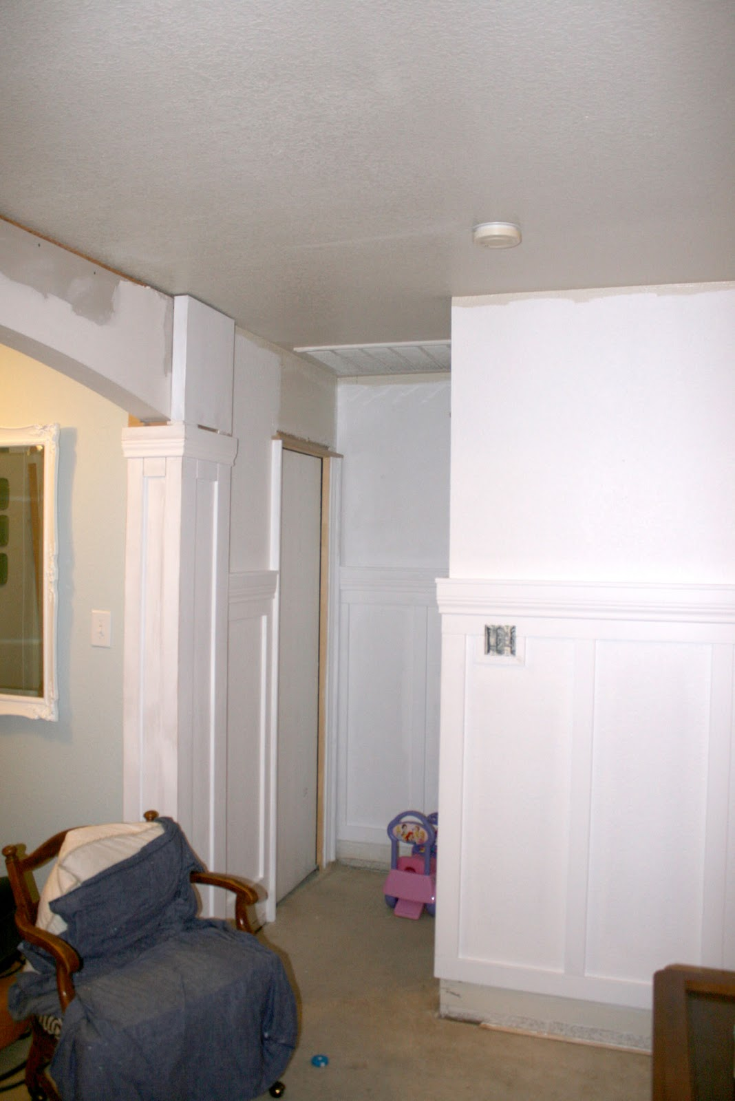 Remodelaholic | Living Room Update 4; Installing Wainscoting and ...