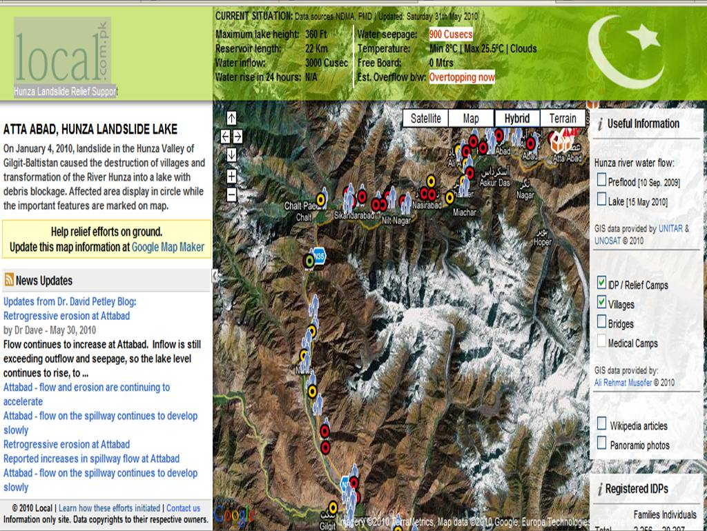 Google Lat Long Map Makers respond to the Pakistan landslides