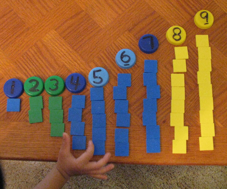 Love2learn2day Milk Cap Math Preschool Activities