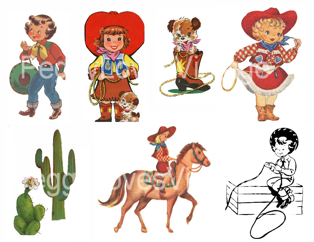 PeggyLovesVintage Blog: Cowboys, Cowgirls and Little ...