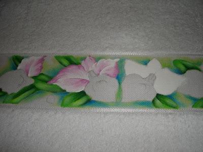 pintura em tecido como fazer jogo de toalhas orquidea