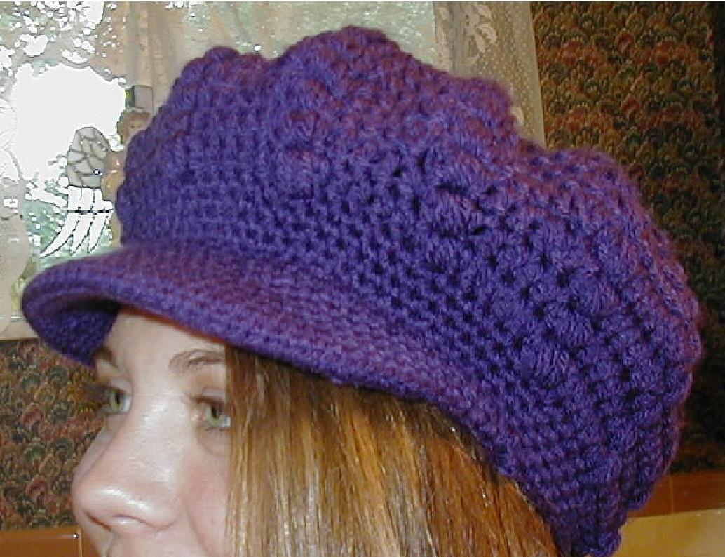 NEWSBOY CAP CROCHET PATTERN - Easy Crochet Patterns