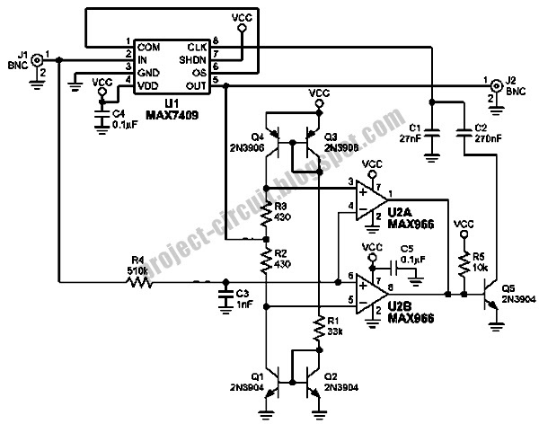 circuit schematic low pass filter with enhanced step response