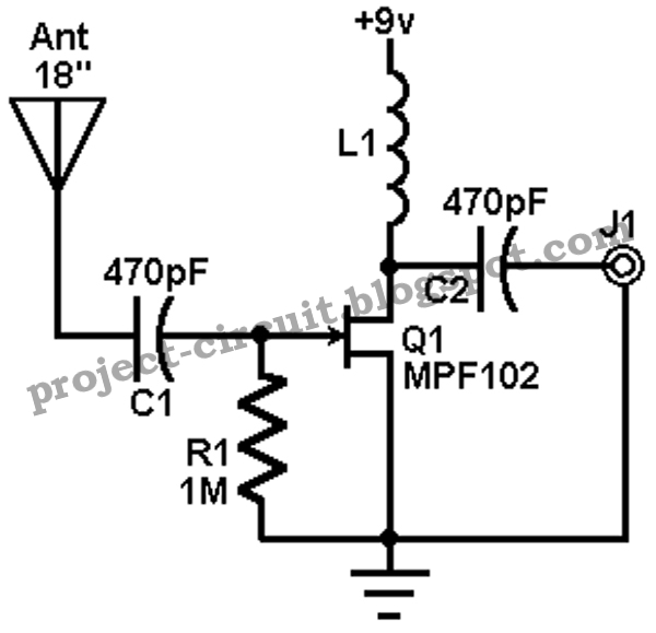Free Project Circuit Diagram Amfmsw Active Antenna Circuit