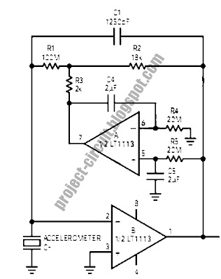 Free Project Circuit Diagram: Accelerometer Amplifier Circuit
