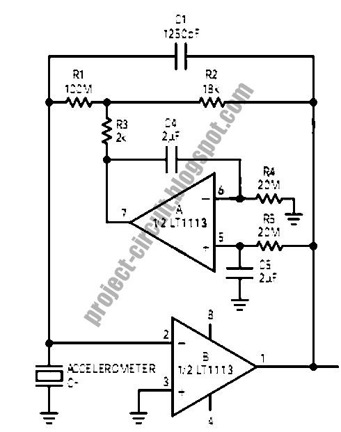 Free Project Circuit Diagram: Accelerometer Amplifier Circuit
