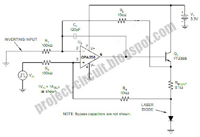 Free Project Circuit Diagram: Laser Diode Driver Circuit
