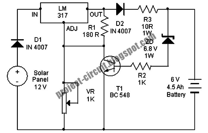 batteries solar charger circuit diagram schematic project
