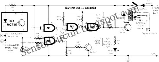 Sensor Schematic: Anti-Theft Security For Car Audios CD4093 IC