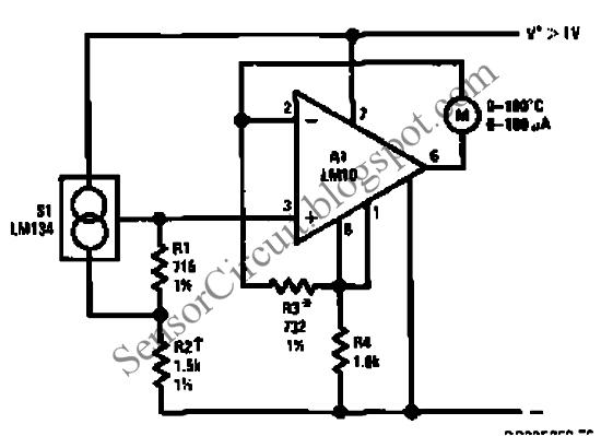 lm134 lm10 thermometer temperature sensor