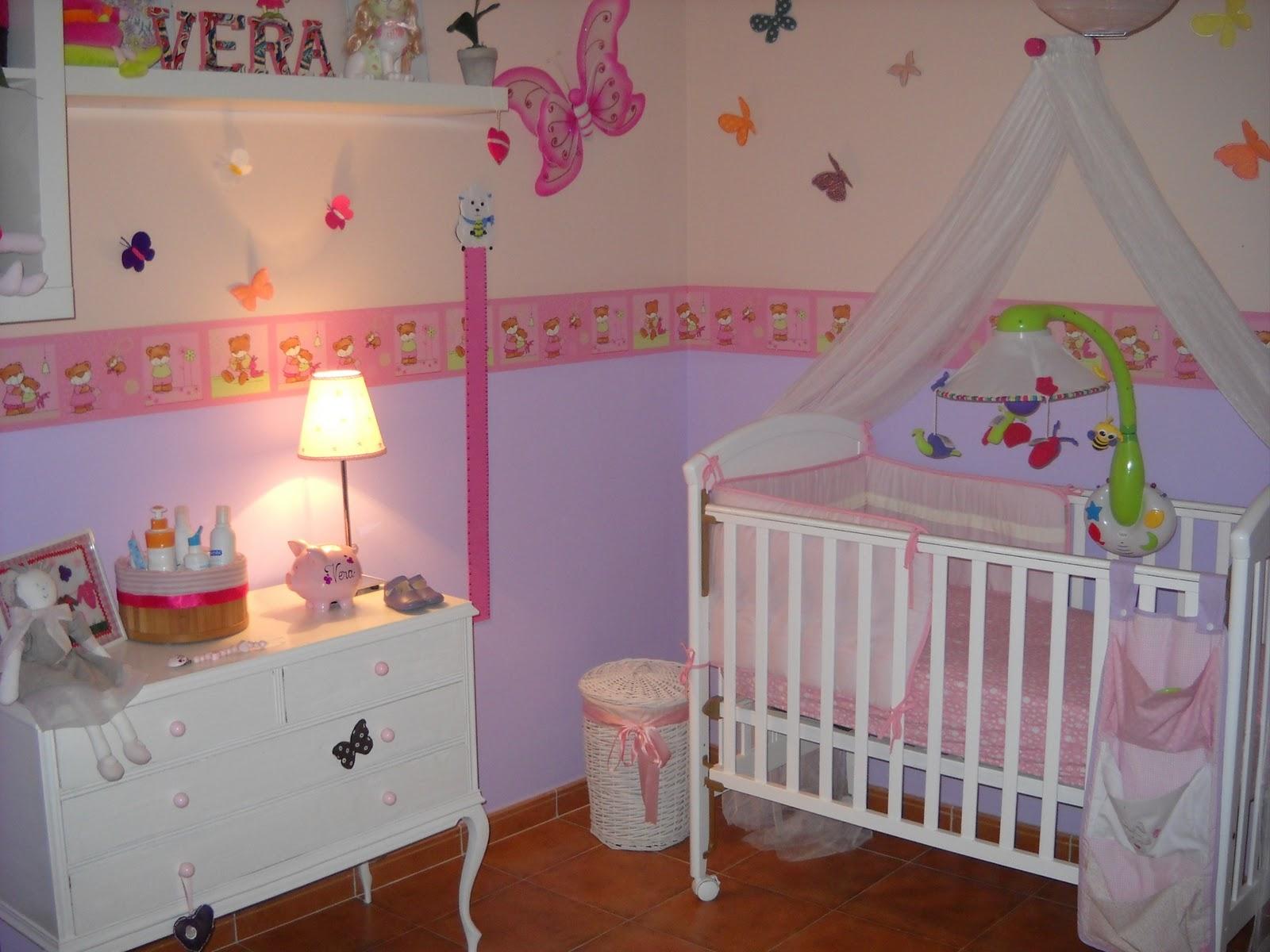 Dormitorios Bebes   Dormitorio Bebe Nina Decorar Tu Casa Es Facilisimo