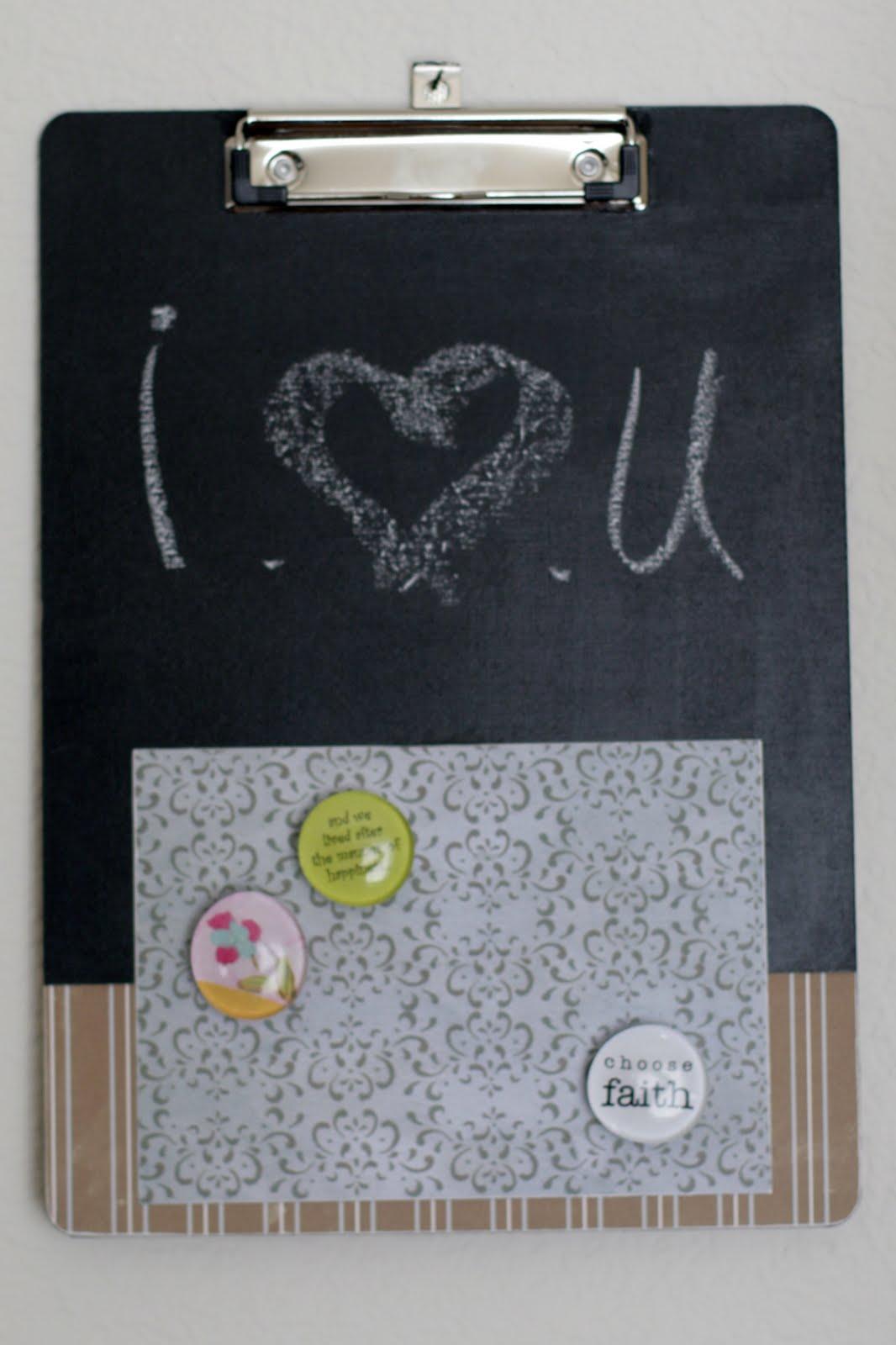 Handmade Amp Heartfelt Chalkboard Clipboard